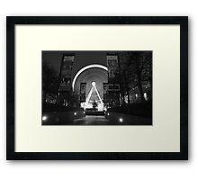 Liverpool Wheel through Trees Framed Print