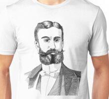 Portrait of Moustache and Man - Pen & Ink Unisex T-Shirt