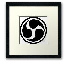 666 Triple Six (black) Framed Print