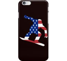 Snowboard USA iPhone Case/Skin