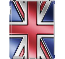 British Union Jack Flag 2 - UK - Metallic iPad Case/Skin
