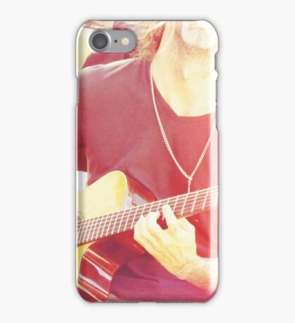 Man on Guitar Singing his Heart Out iPhone Case/Skin