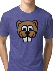 Beaver face Tri-blend T-Shirt