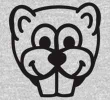 Beaver head face One Piece - Long Sleeve