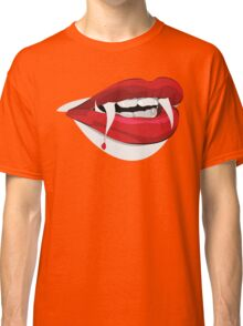 Female Dracula Lips - Halloween Classic T-Shirt