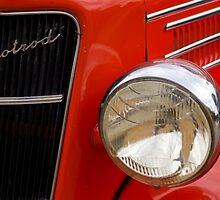 Red Hotrod Head light by Norman Repacholi