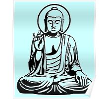 Young Buddha No.1 (black) Poster
