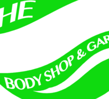 The Green Shell Body Shop & Garage Sticker