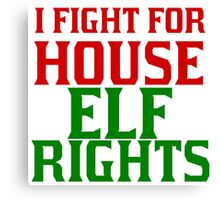 I FIGHT FOR HOUSE ELF RIGHTS Canvas Print