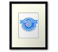 Mysterious Industries (Distressed Version) Framed Print
