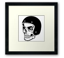 Skull with Helmet - Safety First! Framed Print