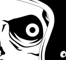 Skull with Helmet - Safety First! Sticker