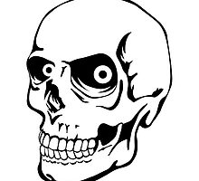 Skull - Stylized - teeth in great condition. by cartoon