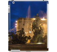 Syracuse, Sicily Blue Hour - Fountain of Diana on Piazza Archimede iPad Case/Skin