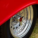 Red skirt chrome wheel - Chevrolet BelAir by Norman Repacholi