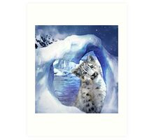 Snow Leopard - Heart Warmer Art Print