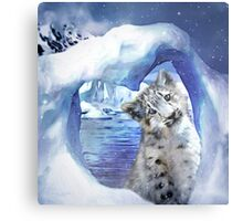 Snow Leopard - Heart Warmer Metal Print