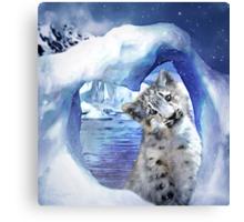 Snow Leopard - Heart Warmer Canvas Print