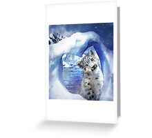 Snow Leopard - Heart Warmer Greeting Card