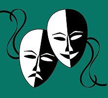 Vintage Theatrical Masks..... by Kricket-Kountry