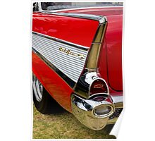 Chrome tail light - Chevrolet BelAir Poster