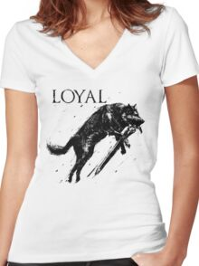 Great Wolf Sif Women's Fitted V-Neck T-Shirt