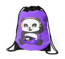 DJ Panda Drawstring Bag