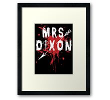 Mrs Dixon Framed Print