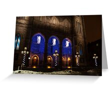 Christmas Angels - Notre-Dame de Montreal Basilica Greeting Card