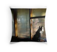 Waiting. Throw Pillow