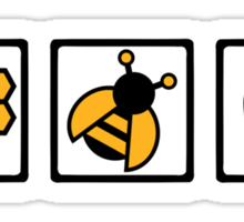 Bee honey Sticker