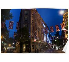 Union Jacks at Seven Dials, Covent Garden, London, UK Poster