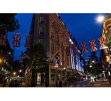 Union Jacks at Seven Dials, Covent Garden, London, UK Photographic Print
