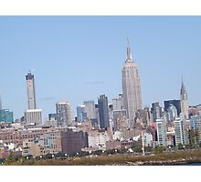 432 Park Avenue Skyscraper, Empire State Building, Chrysler Building, View from Jersey City, New Jersey Photographic Print