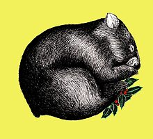 Xmas Wombat  by AirDrawn