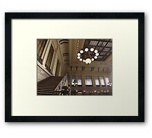 Waiting Room, Historic Hoboken Ferry and Train Terminal, Hoboken, New Jersey  Framed Print