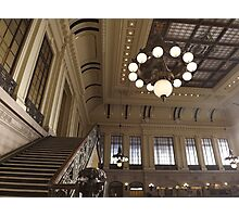 Waiting Room, Historic Hoboken Ferry and Train Terminal, Hoboken, New Jersey  Photographic Print
