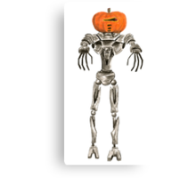 Halloween Cylon: Pumpkinhead Canvas Print