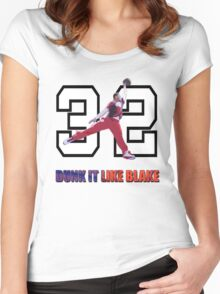 """Dunk It Like Blake"" Women's Fitted Scoop T-Shirt"