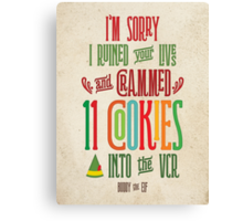 Buddy the Elf - 11 Cookies Canvas Print