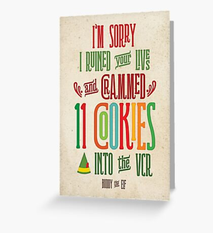 Buddy the Elf - 11 Cookies Greeting Card