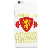 Lannister Workout iPhone Case/Skin
