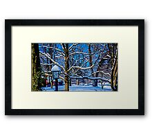 SIMPLE BEAUTY OF WINTER Framed Print
