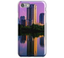 Austin , Texas Skyline with Brilliant Colorful Reflection iPhone Case/Skin