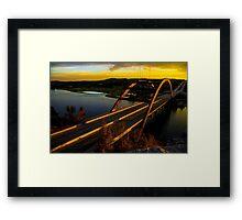 360 Bridge or Pennybacker At Sunset with Golden Highlights Framed Print