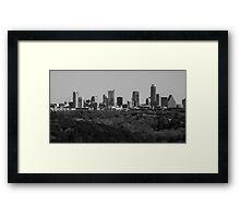 Austin , Texas Black and white Skyline 2014  Framed Print