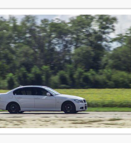 White BMW 335i Racing Sticker