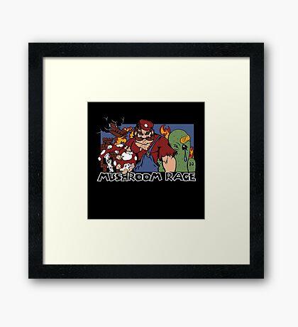 Mushroom Rage Framed Print