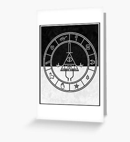 gravity falls bill cipher wheel card Greeting Card
