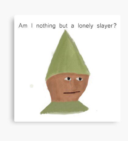 Pensive Slayer Canvas Print